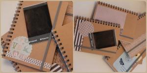 cuadernito con hueco para  polaroid